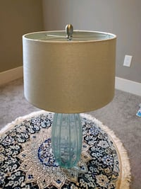 white and green table lamp Edmonton, T6R 0R7