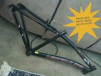 black and gray bicycle frame Leduc, T9E 0M9