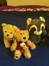 three animal plush toys Alexandria, 22312