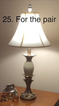 PAIR (2) OF MATCHING LAMPS W/SHADES l Columbia