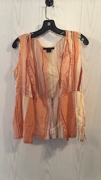 "womens, ""David Dart collection"" peach striped sleevless over shirt Tuscaloosa, 35405"