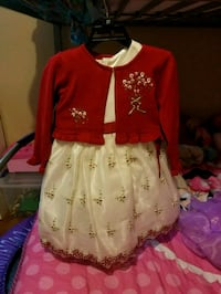 girl's red and cream dress Angleton, 77515