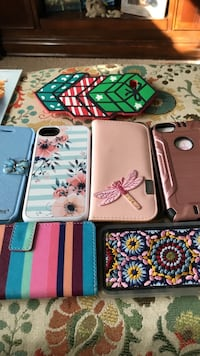 assorted color iPhone cases in box
