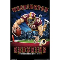 Washington Redskins Liquid Blue Designs 22'' x 34'' End Zone Poster   Herndon, 20170
