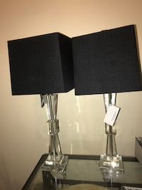 two black-and-gray table lamps Arlington, 22206