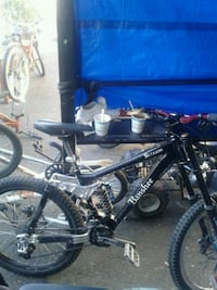 black and gray full suspension mountain bike Surrey, V3R 3L2