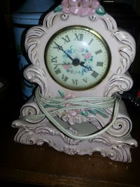 pink analog electronic clock