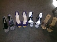 four pairs of assorted color shoes Goose Creek, 29445
