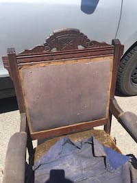 Two old wooden chairs- need to be reupholstered Ottawa, K4M 1B3