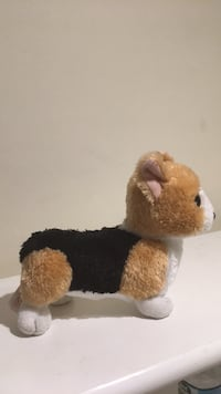 Brown and white dog plush toy Trumbull, 06611