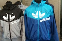 due zip-up hoodies pullover bianco e nero adidas Grumo Nevano, 80028