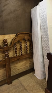 King bed w/ headboard and frame top. Mattress is fairly new