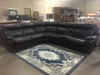 BEAUTIFUL BROWN LEATHER RECLINING SECTIONAL. - SPECIAL OFFER THIS WEEK ONLY - Dallas, 75216