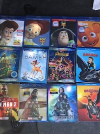 20 movie pack $120 for all or $10ea Rancho Cordova, 95655