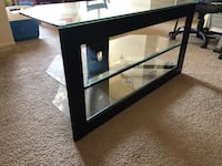 TV stand glass and metal frame (good condition) Garden Grove, 92843