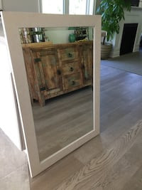 White washed wooden framed mirror Innisfil, L0L