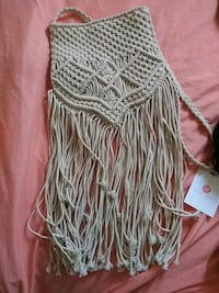 White crochet with long fringes Mojave, 93501