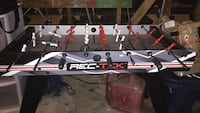 Black and red Rec-Tck foosball table