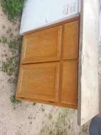 brown wooden 2-door cabinet Las Vegas, 89104