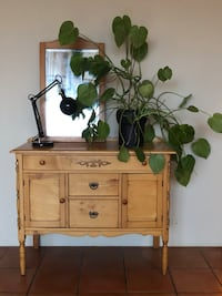 Antique 1930s built sideboard/cabinet with matching mirror Vancouver, V6J