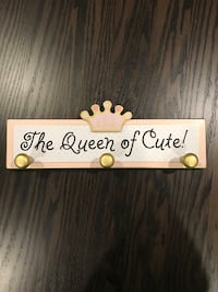 "KIDS GANZ ""THE QUEEN OF CUTE"" COAT HANGER"