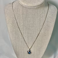 Turquoise & Sterling Silver Shadow Box Pendant Ashburn