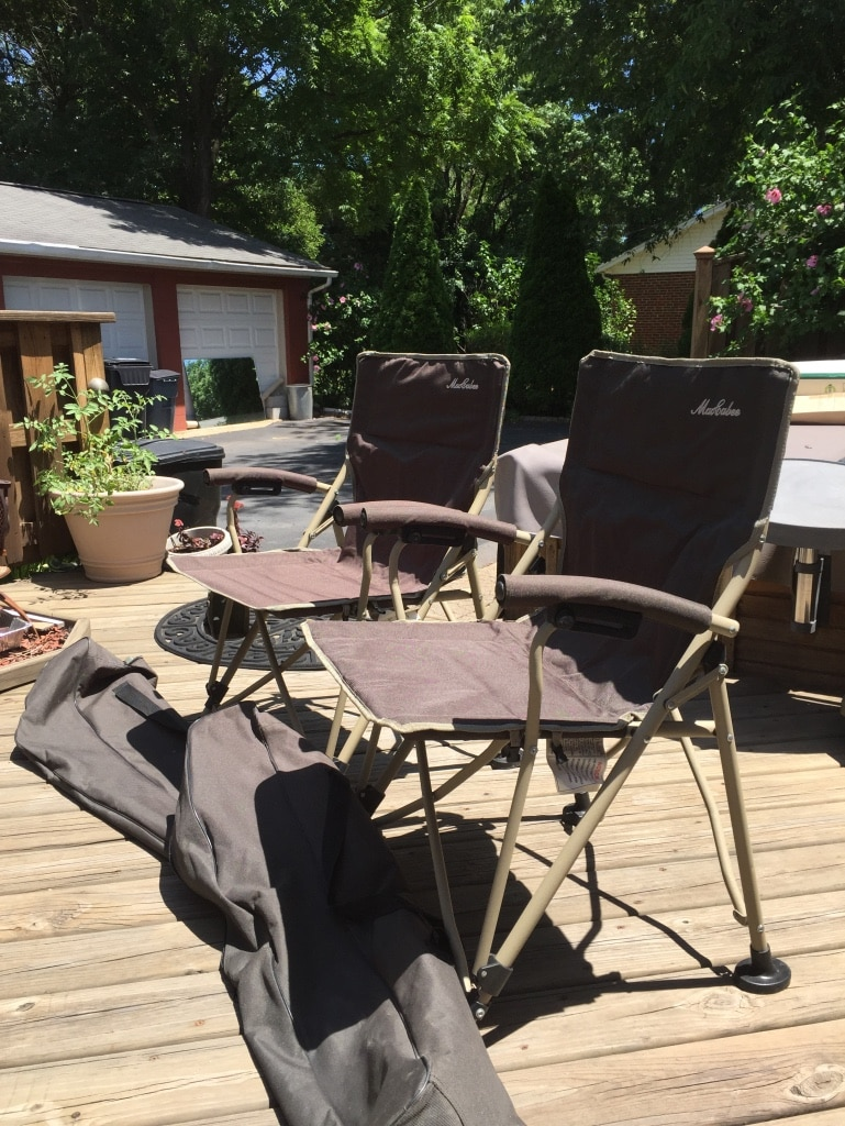 MacCabee c&ing chairs (set of 2). & Used MacCabee camping chairs (set of 2). for sale in Manassas - letgo