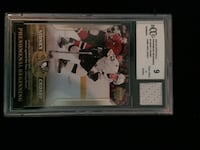 Sidney Crosby Phenomenal Beginning Card With Piece of Game Worn Jersey, both Becket graded and certified 9   Edmonton, T6B 3L4