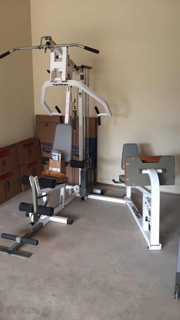 Used home universal gym sold being picked up saturday for sale