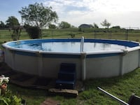 white and blue above ground pool Royse City, 75189