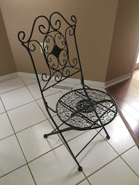 black metal framed floral padded chair Barrie, L4M 6P9
