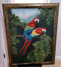 Parrot painting on canvas framed Cape Coral, 33914