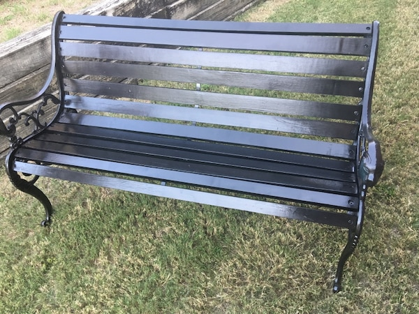 Used Classic Cast Iron And Wood Park Bench For Sale In Plano Letgo