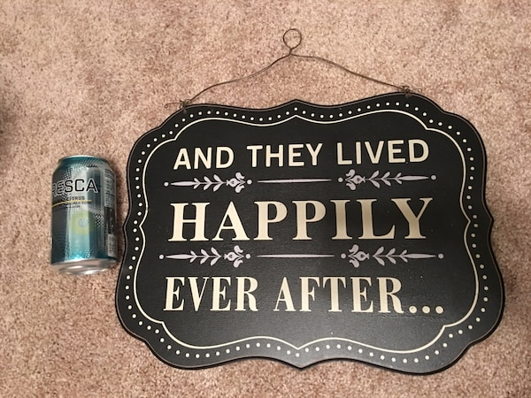 Used And They Lived Happily Ever After Quote In Wooden Wall Decor