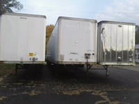 white and gray enclosed trailer Dayton