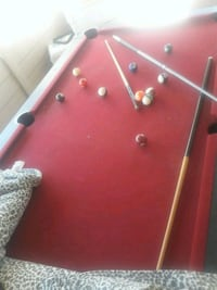 red and gray foosball table Victorville, 92392