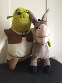 Shriek and Donkey large stuffed characters Burlington