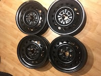 4 steel rims great shape see photo for size  Calgary, T2J 5Y9
