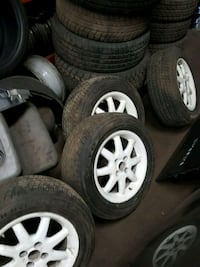 15 inch white bbs wheels and tire set  Mississauga