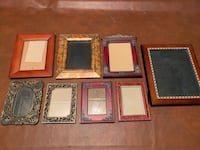 8 nice picture frames, various sizes. See description! Sioux Falls, 57103