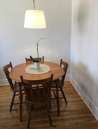 Wooden table with four chairs dining set Montréal, H4H 2G9