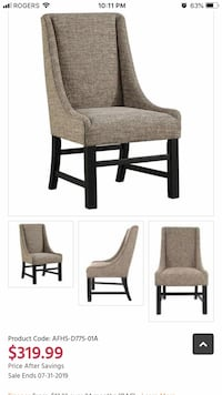 Upholstery dining table chairs  Mississauga, L5B