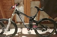 black and white full suspension mountain bike Surrey, V3R 1Z9