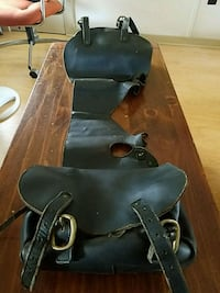 Leather motorcycle saddlebags  Robesonia, 19551
