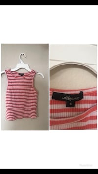 women's pink and white stripe tank top Lancaster, 93535