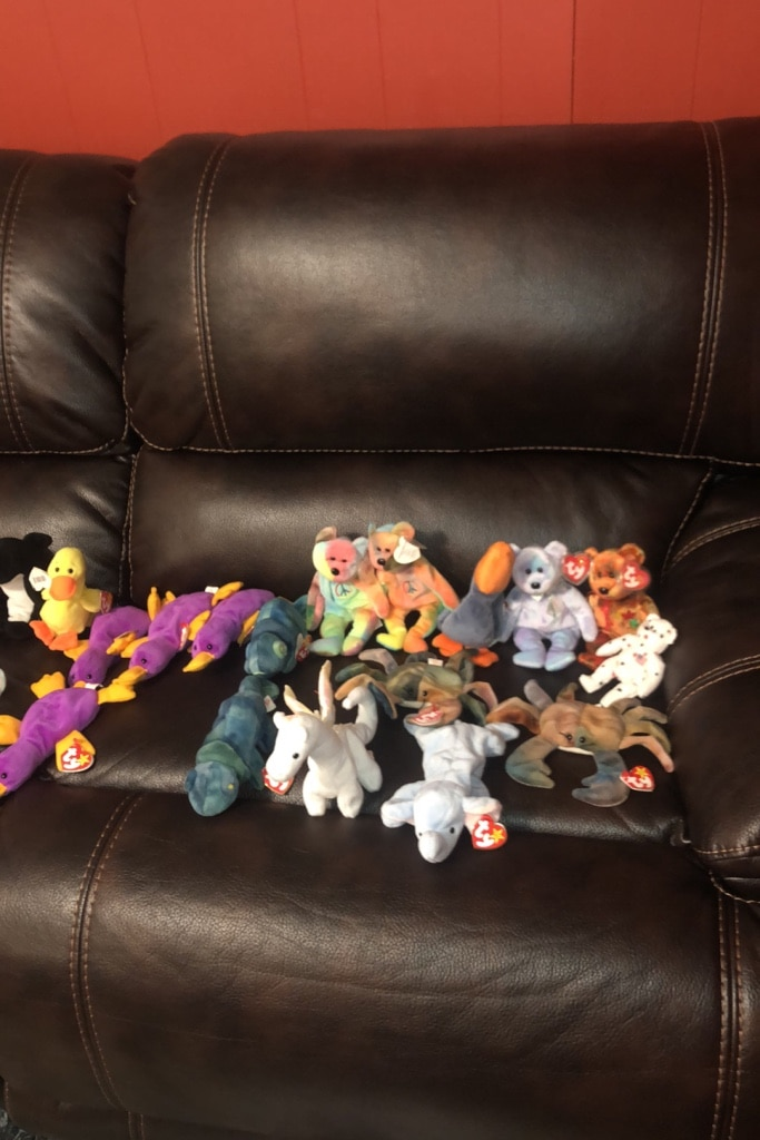 Photo Huge lot of old retired beanie babies. All with tags and mintcondition