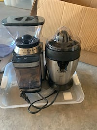 Cuisineart coffee grinder and Juicer (never used) Calgary, T3P 0E5