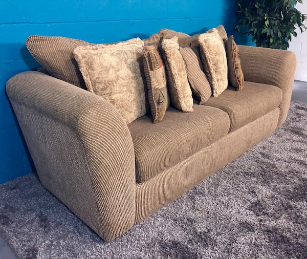 Ed To Move Tan Fabric Sofa Free Delivery