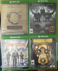 4 xbox one games Burnaby