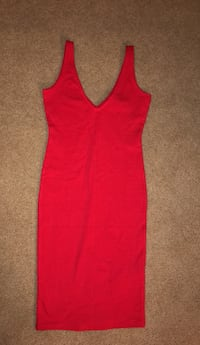 Women's red deep v neck dress Fort Washington, 20744